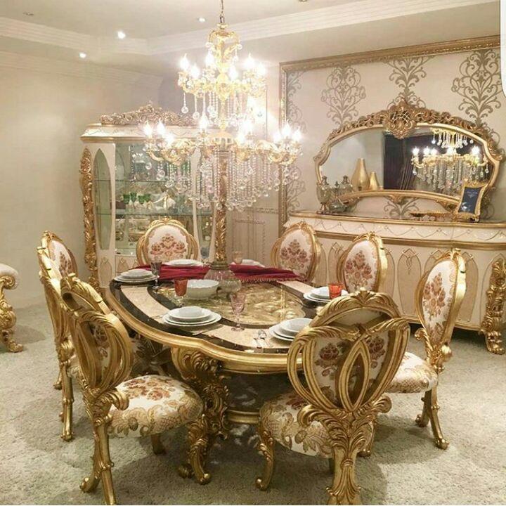 Gold Dining Set Zoom Images